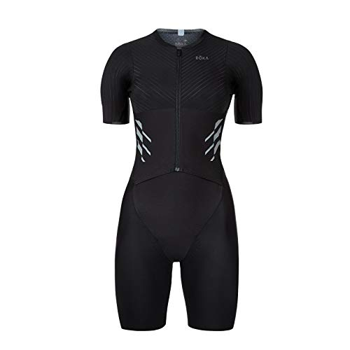 ROKA Women's Gen II Elite Aero Short Sleeve Triathlon Sport Suit - Black - Medium
