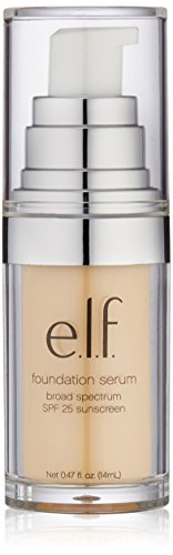 e.l.f. Beautifully Bare Foundation Serum SPF 25, Fair/Light, 0.47 Fluid Ounce