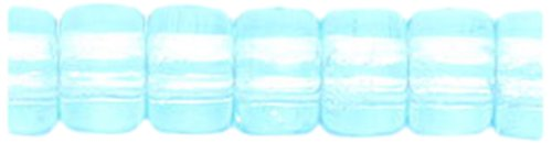 Preciosa Ornela Traditional Czech Glass Crow Roller 200-Piece Beads, 6mm, Light Aqua (Crow Roller)