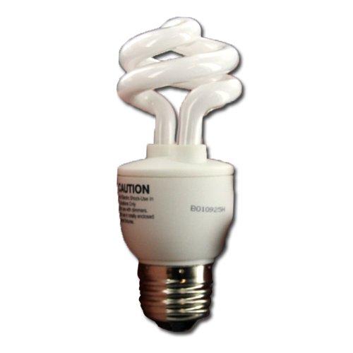 15000 Hour Fluorescent Lamp Compact (CFSPM9W827-15M TCP 18009 9w 120v Spiral 27k medium base 15,000 hour)