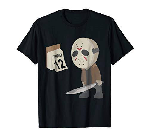 Friday 12th Funny Halloween Horror Graphic T-shirt ()