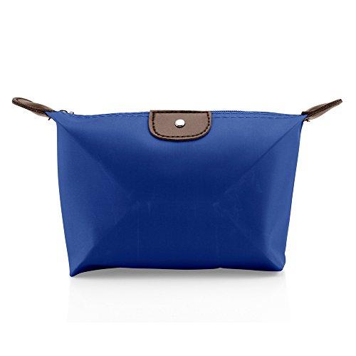 GEARONIC TM Pouch Cosmetics Case Makeup bag Multifunction Travel Accessory Organizer- Dark Blue