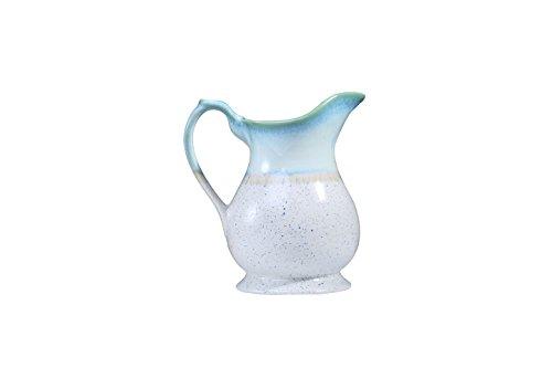 Caffeine Handmade Ceramic/Stoneware Water Jug/Pitcher  Glossy White