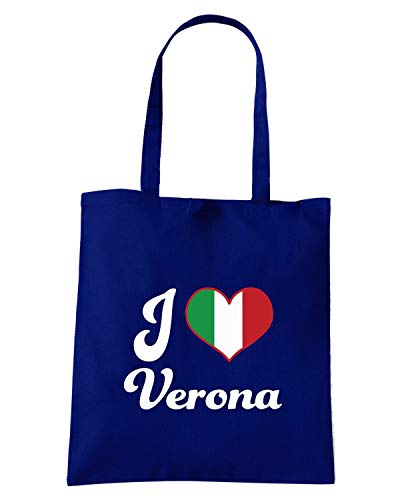 Blu HEART Borsa I ITALY TLOVE0089 Shirt Shopper Navy Speed VERONA w8Atx