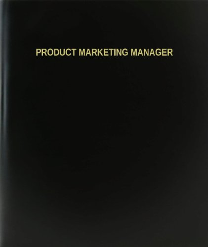 BookFactory® Product Marketing Manager Log Book / Journal / Logbook - 120 Page, 8.5''x11'', Black Hardbound (XLog-120-7CS-A-L-Black(Product Marketing Manager Log Book)) by BookFactory