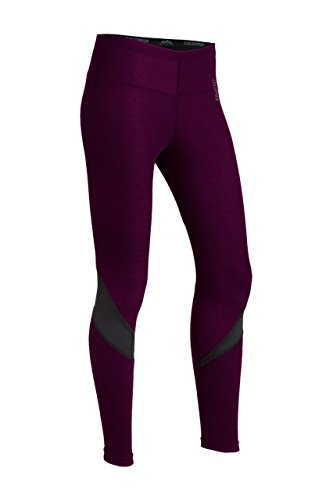 ColdPruf Women's Zephyr Base Layer Legging, Plum, Small by ColdPruf