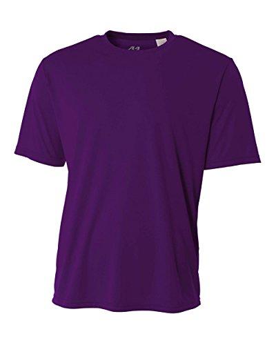 Du Refroidissement Violet shirt Courtes Cou Ras T Performance Manches A4 nbsp;youth xCZn5fwY