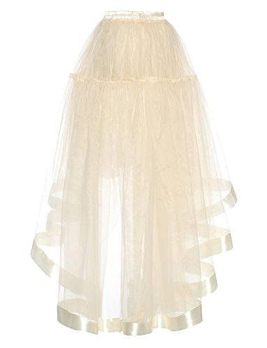 annes Bleu en DYSS Royal 50 Bas Femmes rtro Jupe Jupon translucide longue Haut Robe organza des 6qaW4gXw
