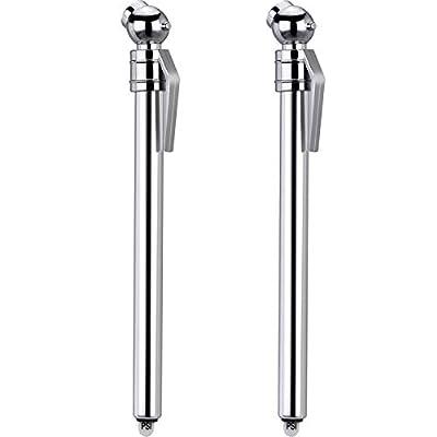 Hotop 2 Pack Tire Gauges Tire Pressure Gauges, Pencil Style (Silver): Automotive