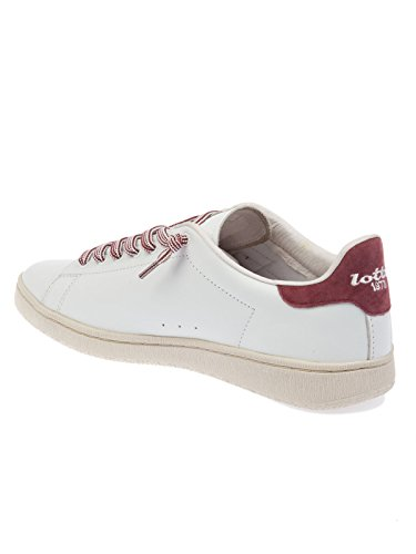 Lotto Herren T0812RED Weiss/Rot Leder Sneakers