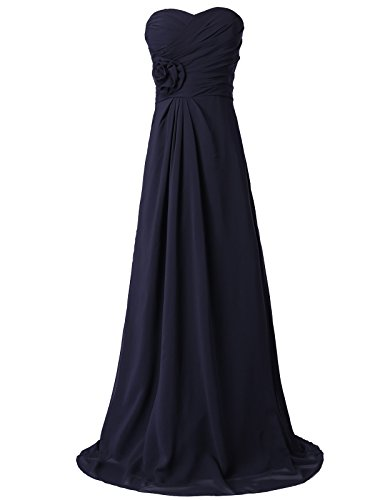 Long Strapless Bridesmaid Dresses Sweetheart Neckline Size 4 CL3442