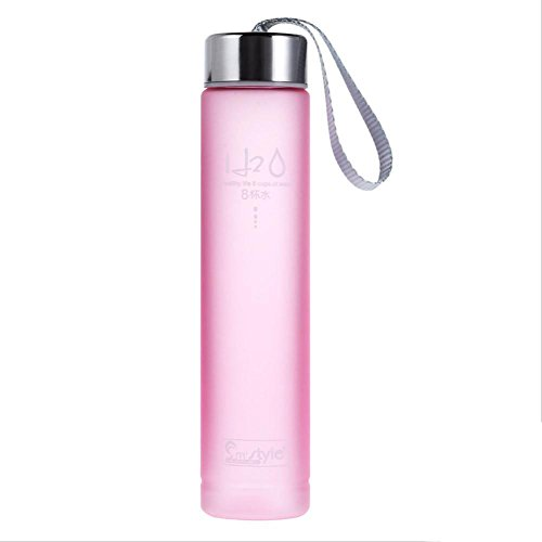 Pink Portable Bike Sports Travel Unbreakable Plastic Water Bottle Camping Cup 280Ml by Travel Mugs