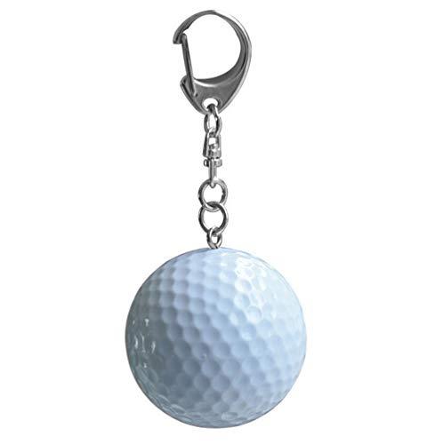 (Zhoyea Durable Mini Keychain Golf Shaped Rubber Keyring Pendant Key Ring)
