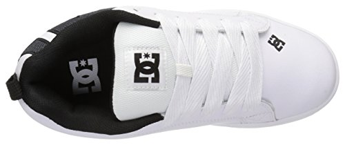 DC Shoes Court Graffik SE Mens Shoe D0300927 - Zapatillas de cuero nobuck para hombre White Smooth