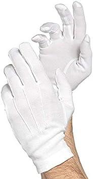 Santa White Cotton Gloves, 1 Pair   Christmas Accessory