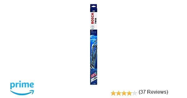 Bosch 3397118560 Twin 500 - Limpiaparabrisas (2 unidades, 500 mm): Amazon.es: Coche y moto