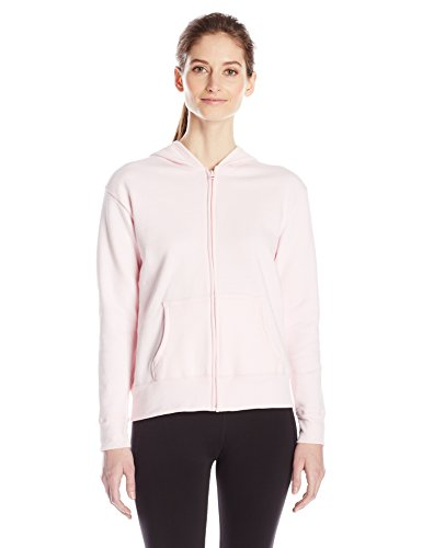 Hanes Women's Full Zip Hood, Pale Pink, x Large ()