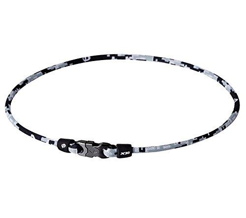 - Phiten Digital Camo Titanium Necklace, Night, 18-Inch