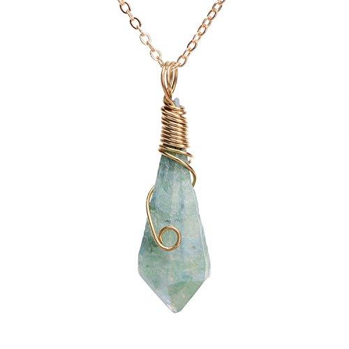 Handmade Amethyst Titanium Necklace gemstone