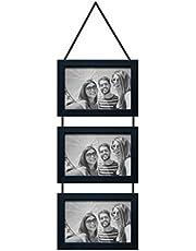 Porta Retratos Trio com Cordão Para 3 Fotos 10X15cm Kapos