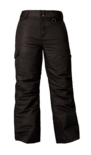(Arctix Youth Snowsports Cargo Pants, Black, Medium)
