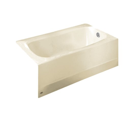 (American Standard 2461.002.222 Cambridge 5-Feet Bath Tub with Right-Hand Drain, Linen)
