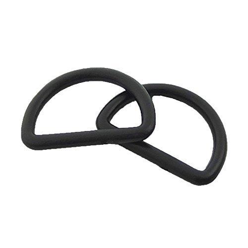 Plastic D Dee Rings for Webbing Belt Buckles Bag 25mm ()