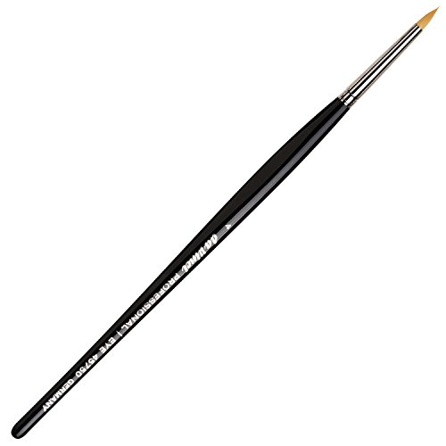 - da Vinci Cosmetics Series 45750 Professional Eyeliner Brush, Pointed Round Synthetic, Size 4, 11.5 Gram