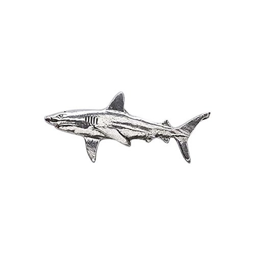 Great White Shark ~ Lapel Pin/Brooch ~ CWG-S112 ~ Pewter