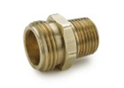 Parker 69GH-12-4 Garden Hose Fitting, Male Hose to Male Pipe, Brass, Hose Thread and Male Flare Connector, 3/4
