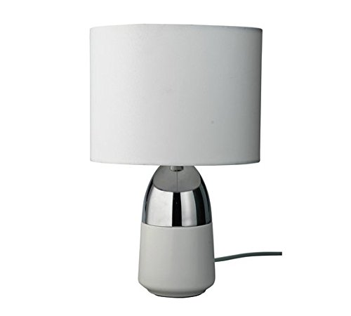 DELEX® HOME Duno Touch Table Lamp In White U0026 Chrome With Touch Sensor  Switch.