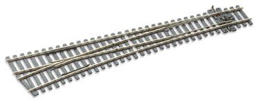Peco SL-E187 HO Left Hand Code 75 Electrofrog Double Curved Turnout ()