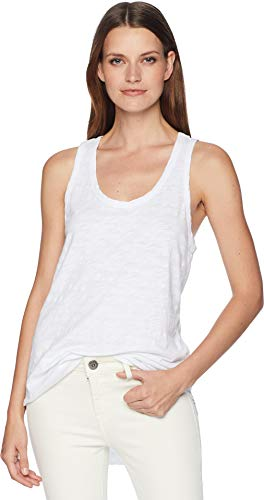 Dylan by True Grit Women's Go to Soft Slub Shirt Tail Tank Tee White Small ()