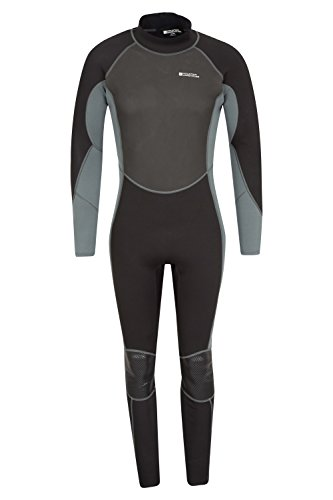 Mountain Warehouse Mens Full Wetsuit - Flat Seams Swimming Wetsuit Charcoal Medium/Large