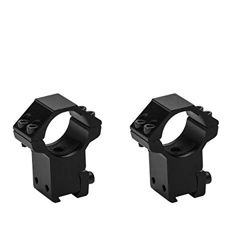 - Skyvady Set of 2 1-Inch Dovetail Scope Rings, High Profile Scope Mount Rings for 11mm Dovetail Rails (One has Stop pin)