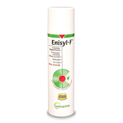 Vetoquinol Enisyl-F Oral Paste: L-Lysine Supplement for Cats - Tuna Flavor, 3.4oz (100mL) Pump (Best Way To Clean Eyes With Conjunctivitis)