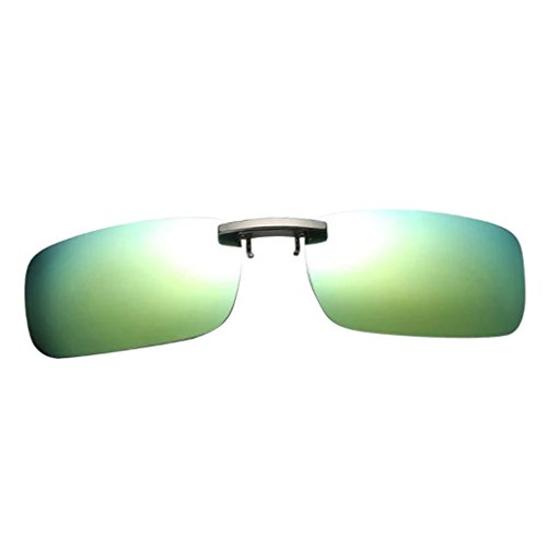 Clip Protección Hombre con para de Solar 400 IPOTCH Gafa Anteojos Sol UV Antideslumbrantes Eyewear claro Mujer Polarizada verde pIwXxxZYq