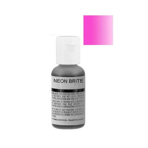 Chefmaster Liqua-Gel Food Color Neon Brite 0.70 Ounce - Neon Brite (Neon Food Coloring)