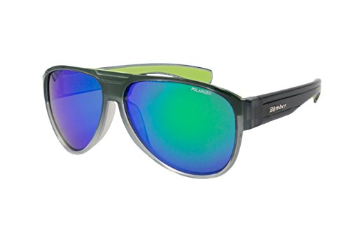POLARIZED EYEWEAR BEER BOMB 2 TONE SMOKE W/GREEN MIRROR