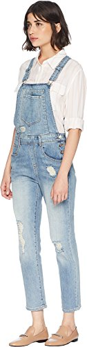 Juicy Couture Women's High-Waisted Cropped Denim Overall Big Sur Wash 0 by Juicy Couture (Image #1)