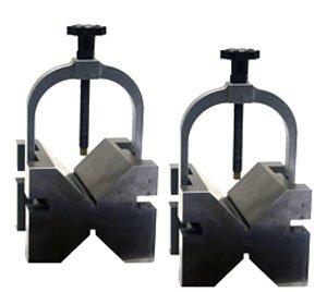 3 Position V-Blocks,2.95'' X 2.75'' X 2.12'',W/Clamps by Flexbar