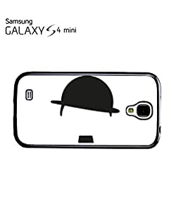 Hat and Moustache Comedy Mobile Cell Phone Case Samsung Galaxy S4 Mini Black by hollowden