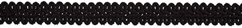 per metre 15mm Essential Trimmings Gimped Braid Trimming Black