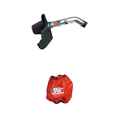 (K&N 77-9015KP Performance Air Intake System with Red Air Filter Wrap)