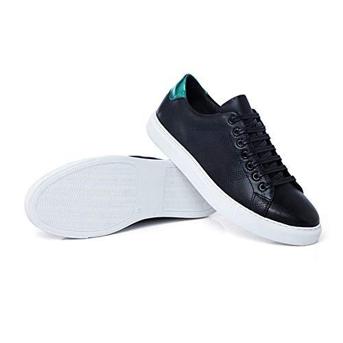 Wwjdxz Puede Tabla Cuero Negro Casual De Four Seasons Tela Calzado Zapatos Usar Unisex Hombre Zapatillas SSwqPrZ