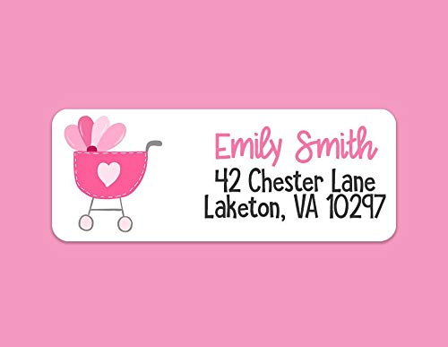 Baby Girl Return Address Labels - Baby Girl Address Labels - New Baby Address Labels - Baby Return Address - It's a Girl - 30 Labels - Waterproof Labels