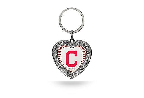 Rico MLB Cleveland Indians Rhinestone Heart ()