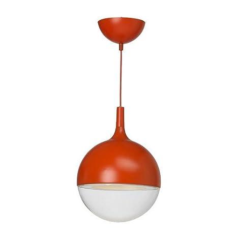 IKEA Väster - Lámpara de techo LED, rojo: Amazon.es: Hogar