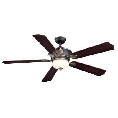 Home Decorator Collection Wineberg 60 in. Old World Gold Ceiling Fan
