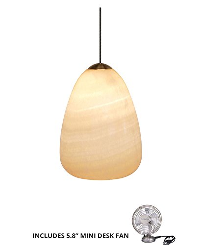 - LBL HS178ONSC1B50MPT, Onyx Mini Low Volt Onyx Round Pendant, 1 Light Halogen (Includes Mini Desk Fan)